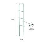 Шпалера, 140 × 28 × 1 см, металл, зелёная, «Лестница»