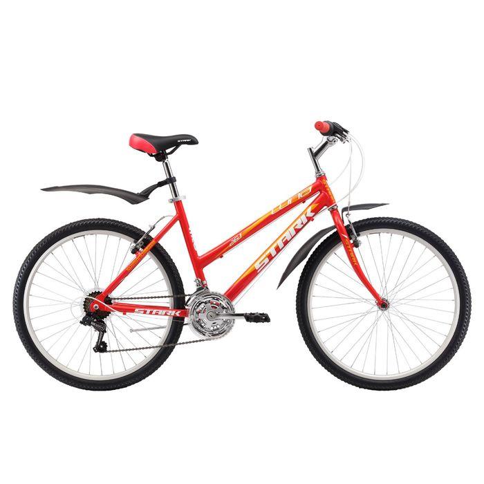 "Велосипед 26"" Stark Luna 1 RV, 2017, цвет красно-желтый, размер 14,5"""