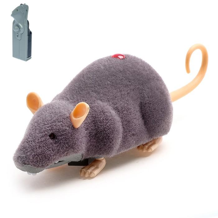 """Животное радиоуправляемое """"Мышка"""", работает от батареек, световые эффекты"""