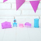 Furniture for dolls, 6 items