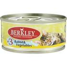 Влажный корм Berkley №3 для котят, кролик с овощами, 100 г