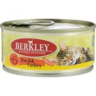 Влажный корм Berkley №6 для кошек, утка с индейкой, 100 г