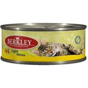 Влажный корм Berkley №14 для кошек, телятина с кроликом легкая формула, 100 г