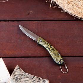 Нож перочинный лезвие хром 6,5см, рукоять Овалы с фиксатором, 15,5см, микс в Донецке