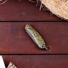Нож перочинный лезвие drop-point хром 6,5см, рукоять Овалы с фиксатором, 15,5см