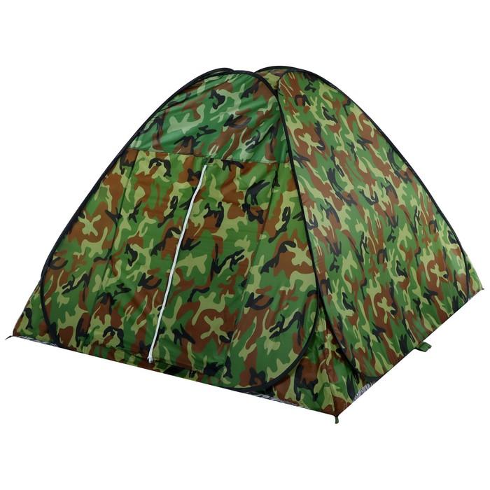Палатка самораскрывающаяся, размер 190 х 190 х 135 см, цвет хаки - фото 36084