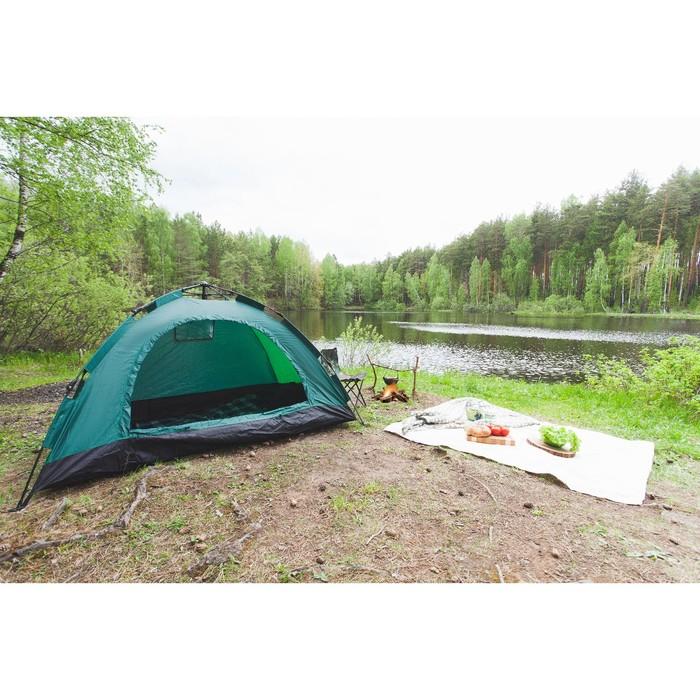 Палатка-автомат 200 х 150 х 110 см, цвет зелёный - фото 36095