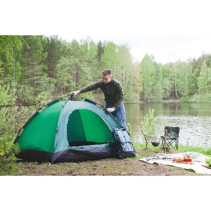Палатка-автомат 200 х 150 х 110 см, цвет зелёный - фото 36096