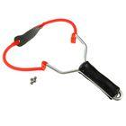 Рогатка, одинарный жгут, рукоять пластик черная, съемная с 10 шариками в комплекте
