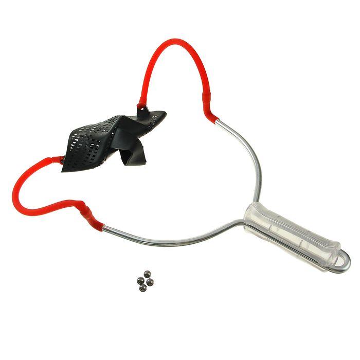 Рогатка, одинарный жгут, пластиковая рукоять, съёмная с шариками в комплекте