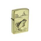Зажигалка в мет.коробке The lure fishing, кремний, бензин, 6х8 см
