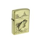 """Lighter gasoline """"THE FISHING LURE"""" in metal box, silicon, 6x8 cm"""