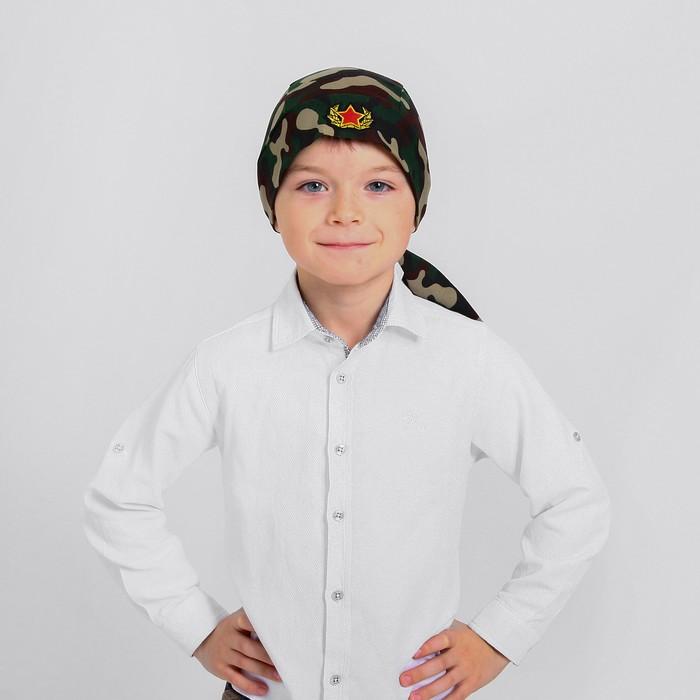 Бандана камуфляжная с кокардой, р-р 54-58 см
