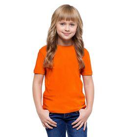 Футболка детская, рост 116 см, цвет оранжевый