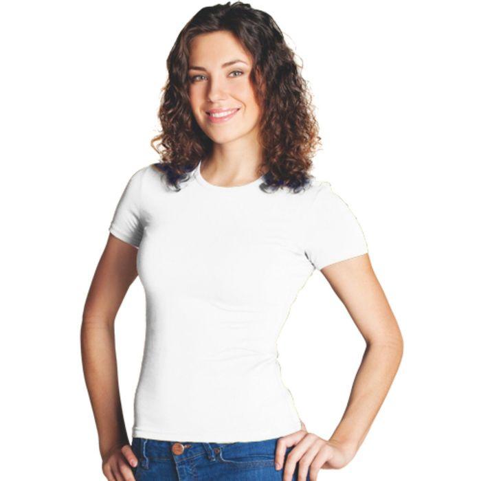 Футболка женская StanSlim, размер 44, цвет белый 180 г/м