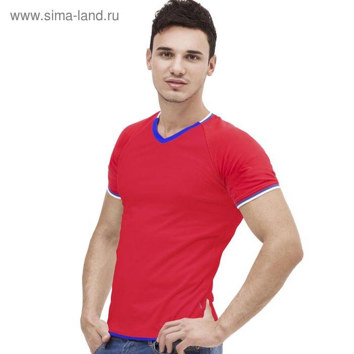 Футболка мужская MoscowStyle, размер 54, цвет красный 200 г/м