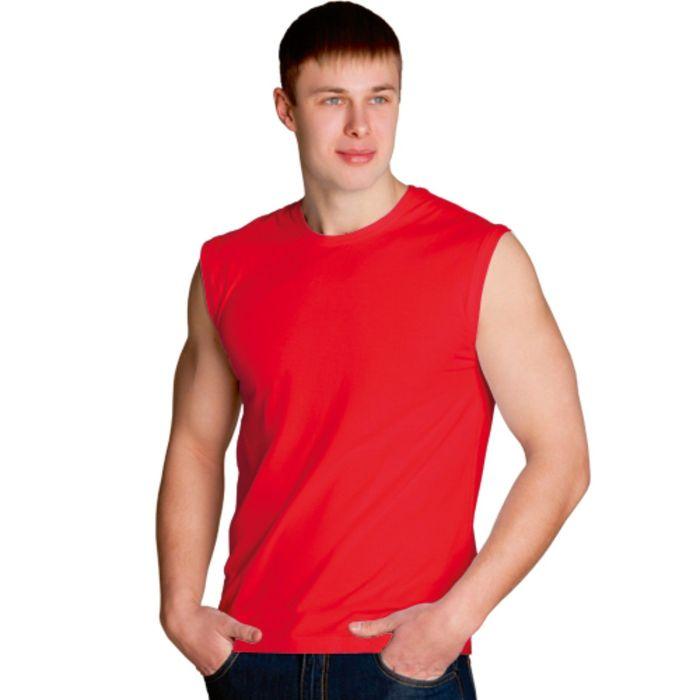 Майка мужская StanSummer, размер 50, цвет красный 145 г/м 41