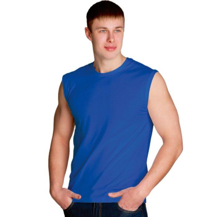 Майка мужская StanSummer, размер 46, цвет синий 145 г/м