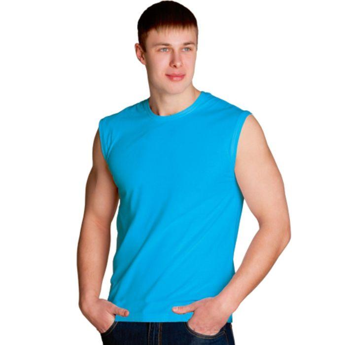Майка мужская StanSummer, размер 54, цвет бирюзовый 145 г/м