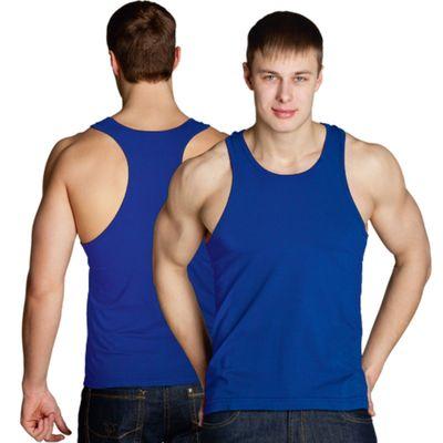 Майка мужская StanFitness, размер 48, цвет синий 180 г/м