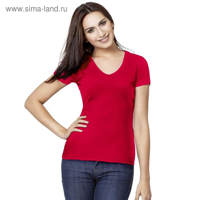 Футболка женская StanVictory, размер 44, цвет красный 180 г/м 07W