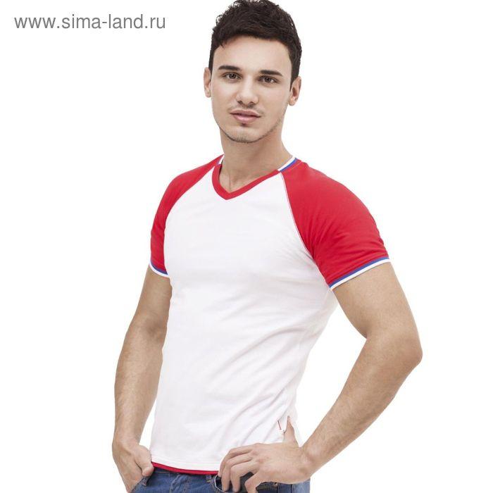 Футболка мужская MoscowStyle, размер 52, цвет белый 200 г/м 14021