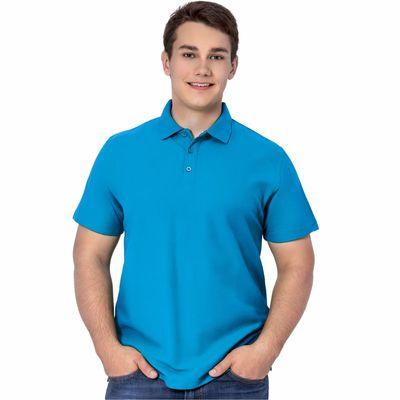 Рубашка-поло мужская StanPremier, размер 52, цвет лазурный 185 г/м