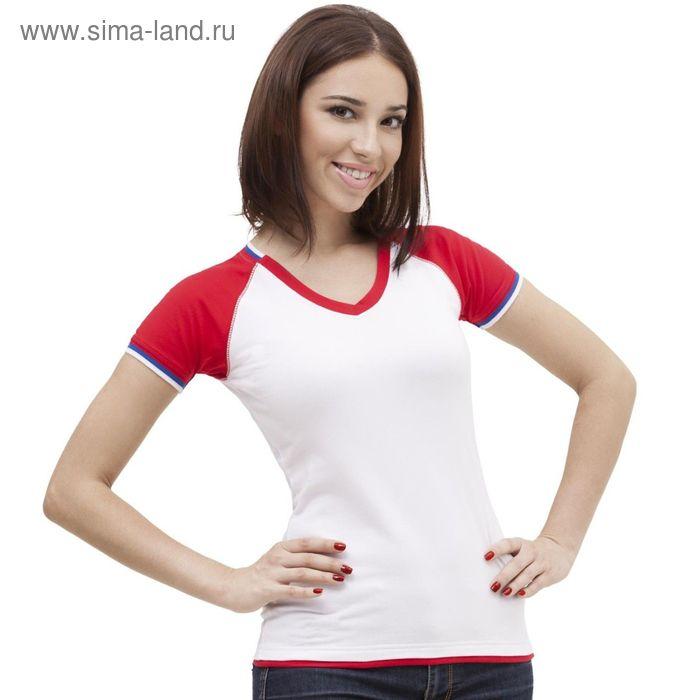 Футболка женская MoscowStyle, размер 52, цвет белый 200 г/м 14W021