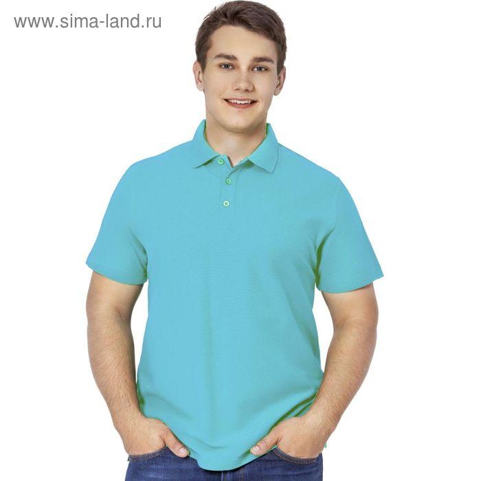 Рубашка-поло мужская StanPremier, размер 44, цвет бирюзовый 185 г/м