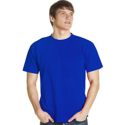 Футболка мужская StanLux, размер 56, цвет синий 180 г/м 08