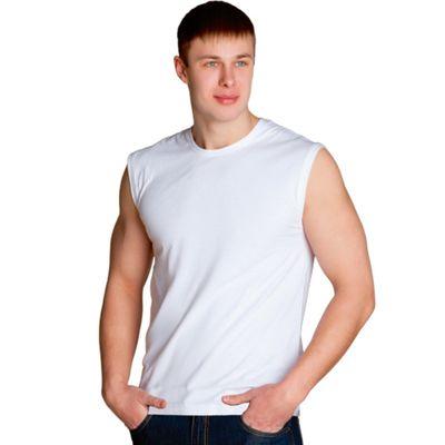 Майка мужская StanSummer, размер 48, цвет белый 145 г/м
