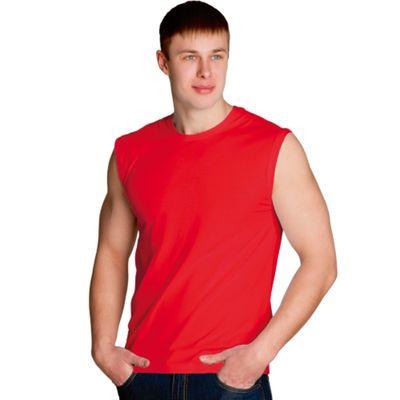 Майка мужская StanSummer, размер 56, цвет красный 145 г/м