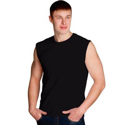 Майка мужская StanSummer, размер 48, цвет чёрный 145 г/м