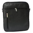 Сумка мужская, 25х8х30 см, отдел на молнии, 2 наружных кармана, плечевой ремень, цвет чёрный