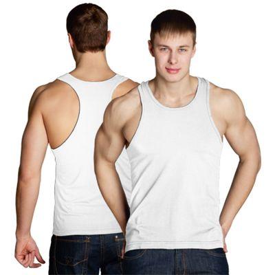 Майка мужская StanFitness, размер 54, цвет белый 180 г/м