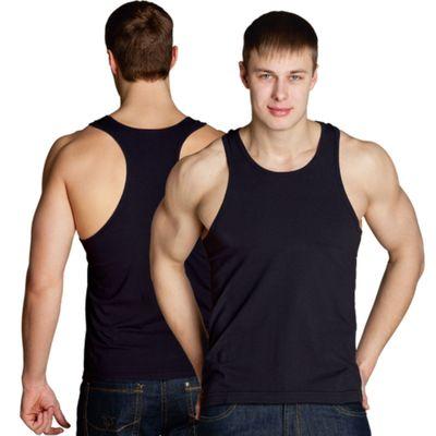 Майка мужская StanFitness, размер 48, цвет чёрный 180 г/м