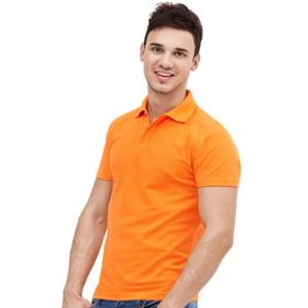 Рубашка унисекс, размер 48, цвет оранжевый