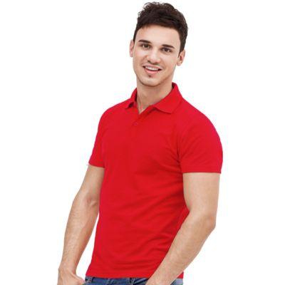 Рубашка-поло мужская StanUniform, размер 48, цвет красный 185 г/м 04U