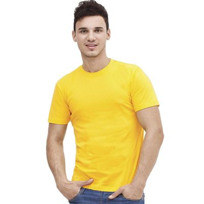 Футболка мужская StanAction, размер 48, цвет жёлтый 160 г/м