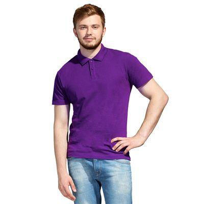 Рубашка-поло мужская StanUniform, размер 52, цвет фиолетовый 185 г/м