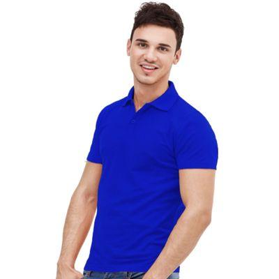 Рубашка-поло мужская StanUniform, размер 46, цвет синий 185 г/м 04U