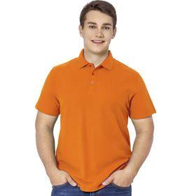 Рубашка мужская, размер 44, цвет оранжевый