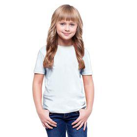 Футболка детская, рост 152 см, цвет белый