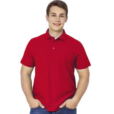 Рубашка-поло мужская StanPremier, размер 48, цвет красный 185 г/м 04