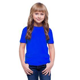 Футболка детская, рост 140 см, цвет синий