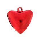 """Набор декора для творчества """"Колокольчики в форме сердца"""" глянец d=2 см набор 5 шт МИКС"""