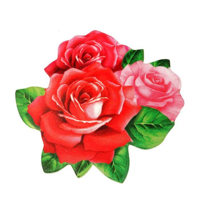 """Открытка со значком """"С 8 Марта"""", розы"""