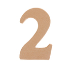 """Основа для творчества и декорирования из папье-маше """"Цифра два"""" 11*7*1,2"""