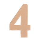"""Основа для творчества и декорирования из папье-маше """"Цифра четыре"""" 11*7*1,2"""