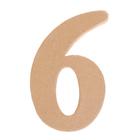 """Основа для творчества и декорирования из папье-маше """"Цифра шесть"""" 11*7*1,2"""